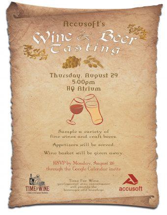 Print – Wine & Beer Tasting Flyer