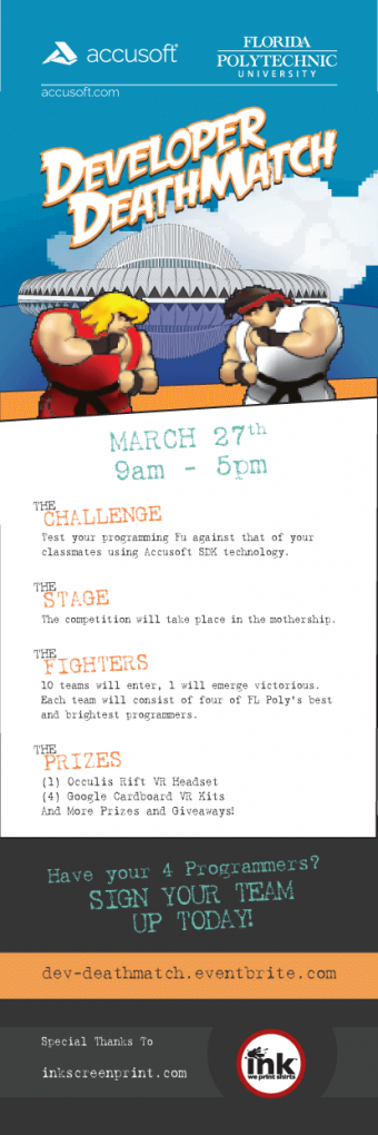 Print – Developer Death Match – Event Poster