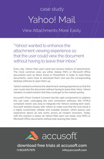 Print – Yahoo Case Study