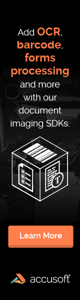 Web Banner – Accusoft – Imaging SDKs Promotion
