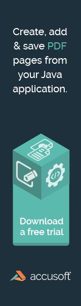 Web Banner – Accusoft – PDF Java Promotion