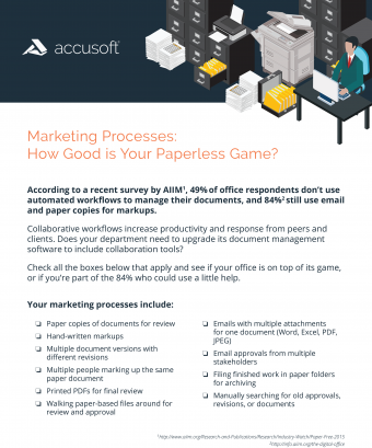 How Good is Your Paperless Game? Checklist