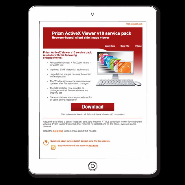 Email – Prizm Activex Viewer
