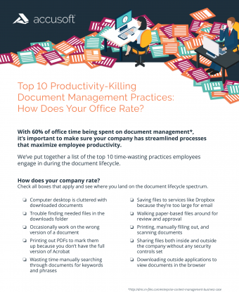 Top 10 Productivity Issues